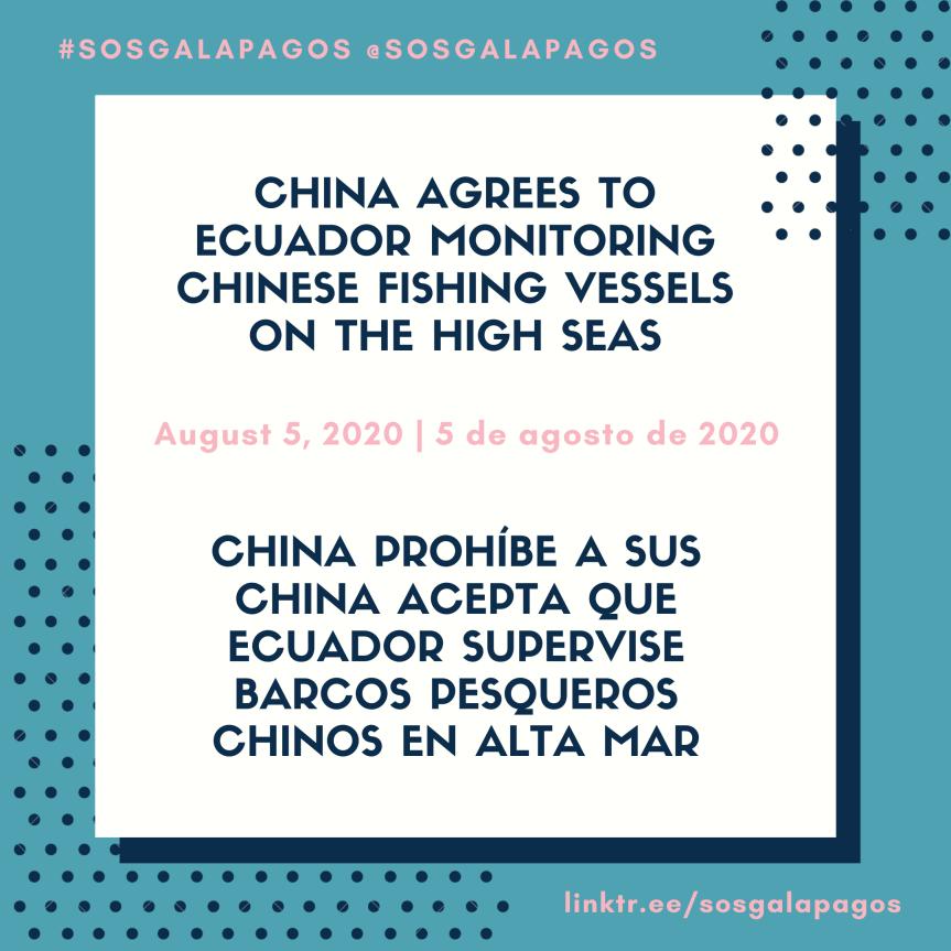 China Agrees To Ecuador Monitoring Chinese FishingVessels