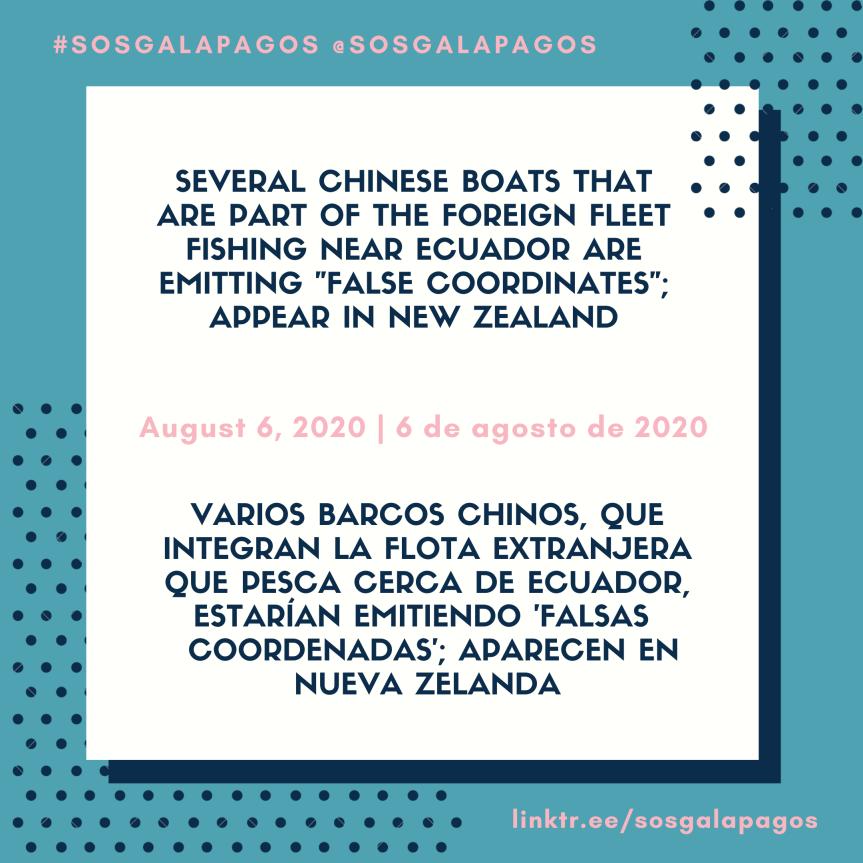 "Chinese Boats Fishing Near Ecuador Are Emitting ""False Coordinates"""