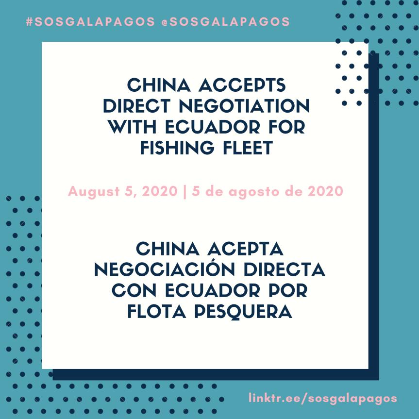 China Accepts Negotiation With Ecuador For FishingFleet