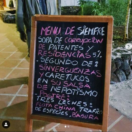 """Images: Today's Menu de Siempre """"Sopa de Corrupcion"""""""