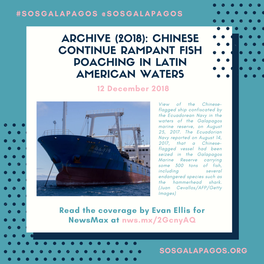 Archive (2018): Chinese Continue Rampant Fish Poaching in Latin AmericanWaters
