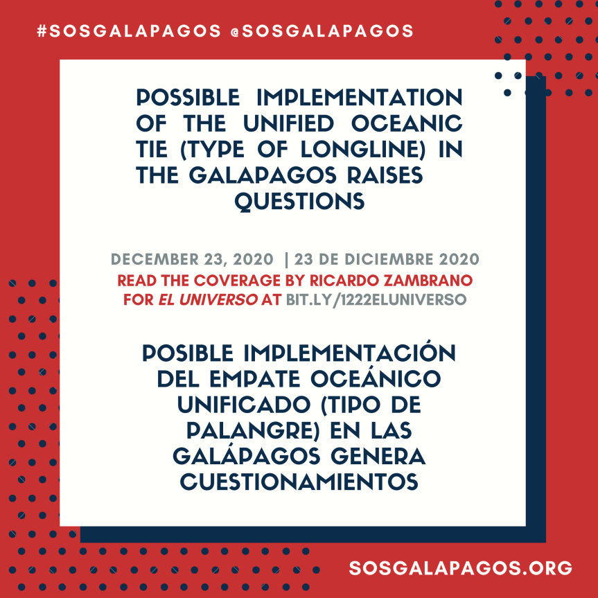Possible implementation of the unified oceanic tie (type of longline) in the Galapagos raisesquestions
