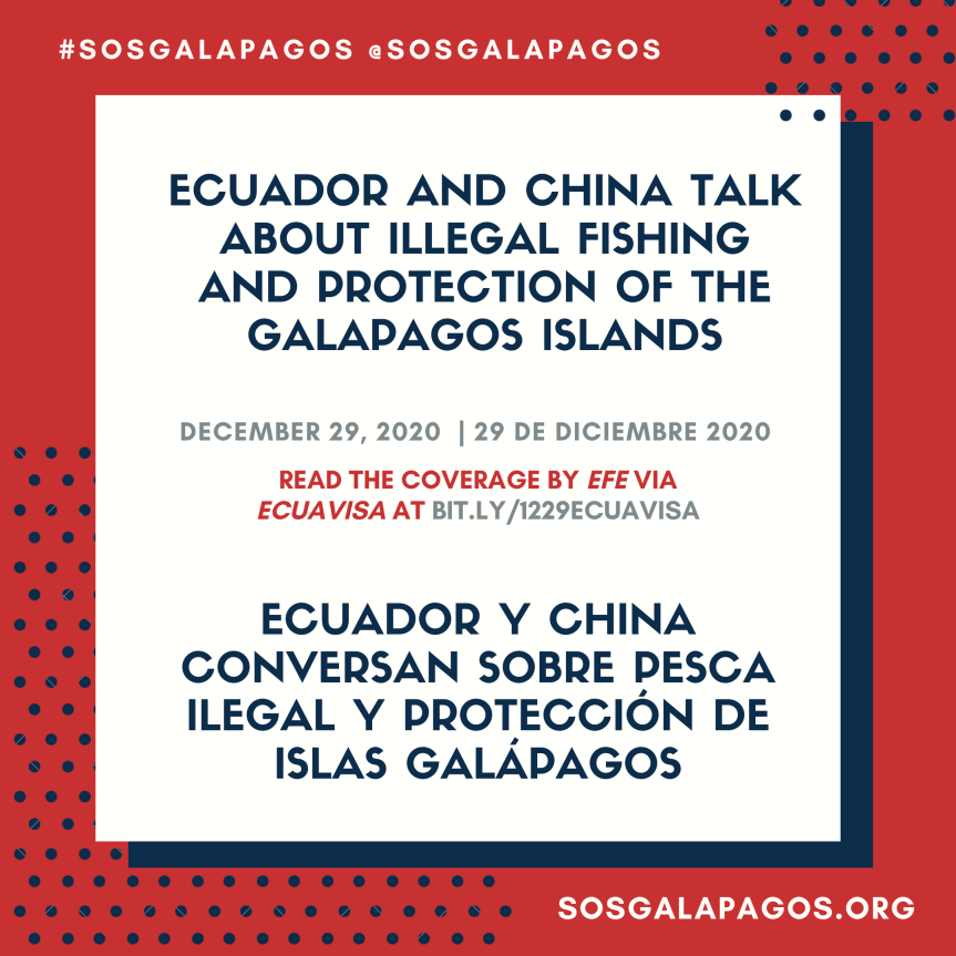 Ecuador and China talk about illegal fishing and protection of the GalapagosIslands
